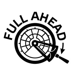 Full ahead icon simple style vector