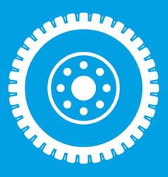 Gear wheel icon white vector