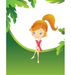 Girl in the tropics vector