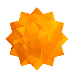 Gold triangle star vector