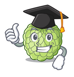 Graduation character custard apple tropical fruit vector