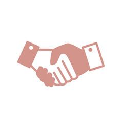 Handshake deal icon vector