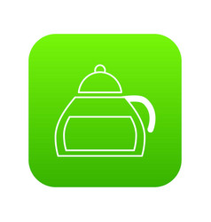 honey tea icon green vector image