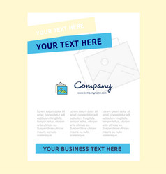 image frame title page design for company profile vector image