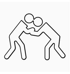 Judo icon vector