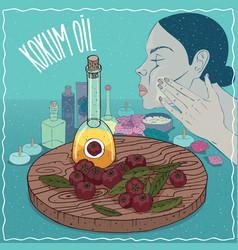 Kokum oil used for skin care vector