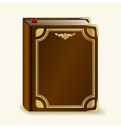 Leather book vector