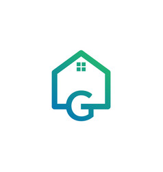 Letter g architect home construction creative vector
