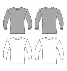 Long Sleeve T Shirt Mockup Vector