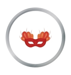 Mask icon in cartoon style isolated on white vector image