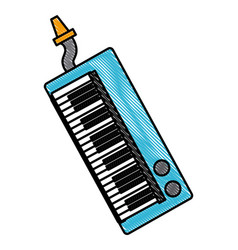 Melodic keyboard music instrument vector