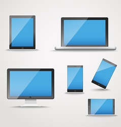 Modern digital device collection vector image vector image
