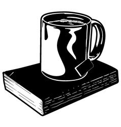 Mug of Tea and Book vector