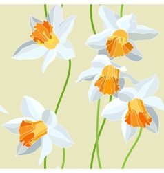 Narcissus seamless pattern vector image
