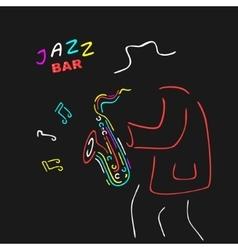 Neon Sign Saxophone Jazz vector