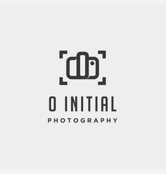 o initial photography logo template design vector image