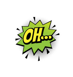 oh comic text bubble isolated color icon vector image