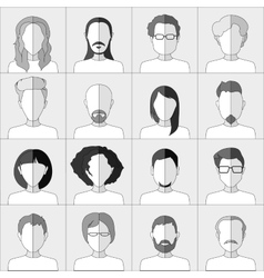 People icons Set of flat stylish people icons in vector image