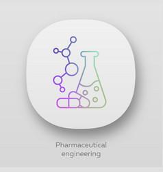 Pharmaceutical engineering app icon drug vector