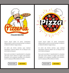 pizzeria of high quality vertical promo banners vector image