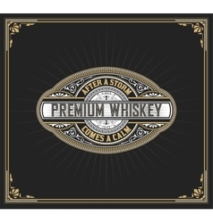premium whiskey label vector image