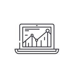 Productivity increase line icon concept vector