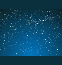 realistic starry sky shining stars dark sky vector image