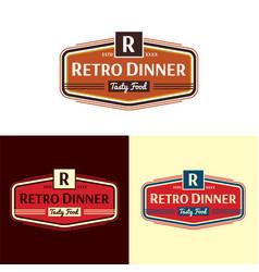 Retro dinner logo vector