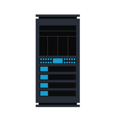 server rack icon database storage design vector image