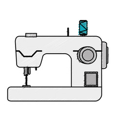 Sewing machine isolated icon vector