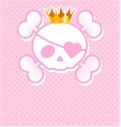 skull place cardwith vector image