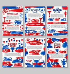 soccer club of football sport game team banner vector image