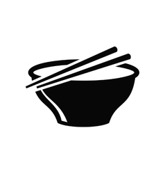 Soup in bowl vector