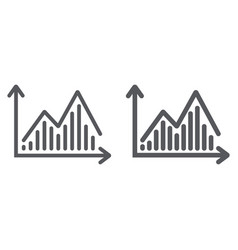 stock chart line and glyph icon graph and finance vector image
