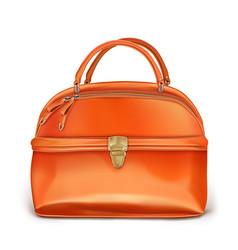 Stylish womens orange handbag vector