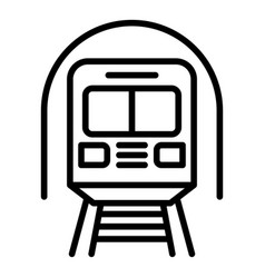 Subway train icon outline style vector