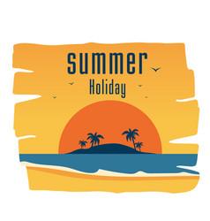 summer holiday island sunset background ima vector image