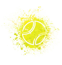 Tennis grunge background vector