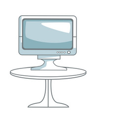 Tv table technology entertainment screen device vector