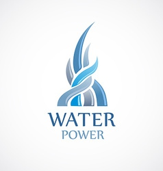 Upstream water flows logo template vector
