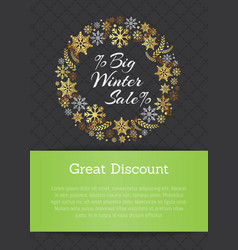 Very big winter sale discount vector