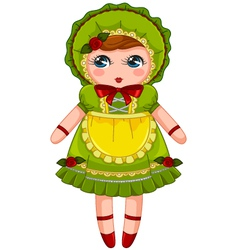 vintage doll vector image vector image