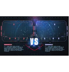 Vs versus futuristic design battle headline vector