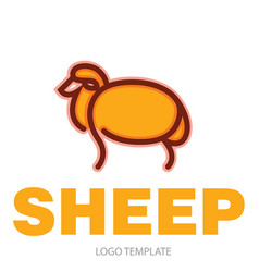 color stylized drawing of sheep vector image