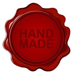 Hand made wax seal vector image vector image