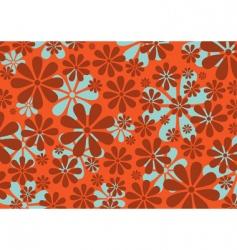 retro daisy pattern vector image