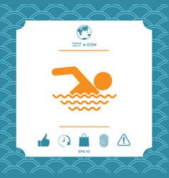 swim symbol icon vector image vector image