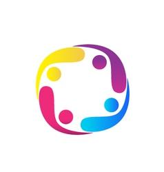 Teamwork swooshes logo vector image vector image