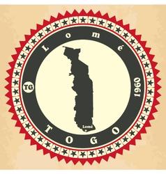 Vintage label-sticker cards of Togo vector image vector image