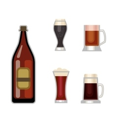 Beer glass set vector image vector image